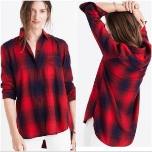 Madewell Ex-Boyfriend Shirt in Wilder Plaid  A1-11